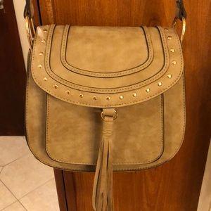 Franco Sarto saddle bag with fringe tassel